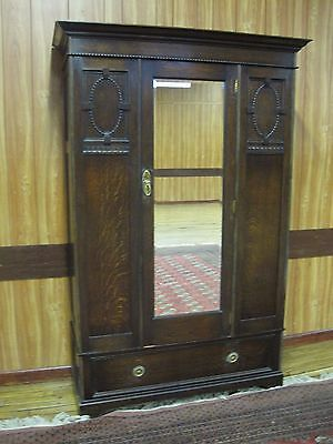 Fine Quality Edwardian Oak Wardrobe