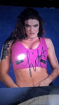 signed picture of Lita from wwe