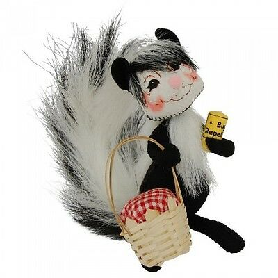 """PICNIC SKUNK 5"""" Bendable Poseable Figure Annalee Summertime NEW!"""