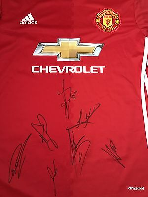 Manchester United Hand Signed 2016-17 Shirt x7 Autographed Man Utd Jersey