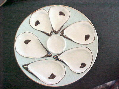 Antique Germany Oyster Plate Registrirt Mark Hand Painted 8 1/4 Inch