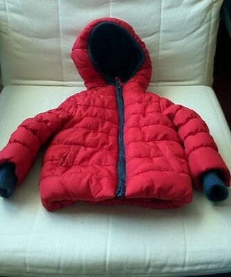 RED...Childs padded hooded jacket..9-12months..MOTHERCARE