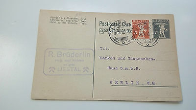 Switzerland Helvetia Cover 1918 Berlin Check Other Swiss Post Letter Card Items