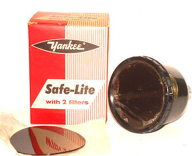 Yankee Safe-Lite with TWO Filters Darkroom Film Photography Light