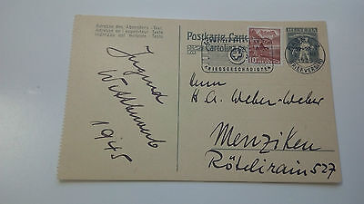 Switzerland Helvetia Cover 1945 Basel - Check Other Swiss Post Letter Card Items