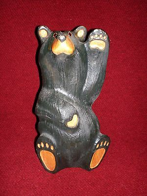 "Big Sky Bear ""Mikey"" the Waving Bear Carved Western Pine"