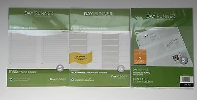 Day Runner Daily Planner Size 5 Refill & Tool LOT Of 3 Packages - NEW & Sealed!