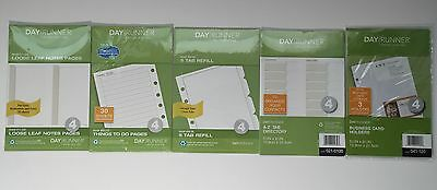 Day Runner Daily Planner Size 4 Refill & Tool LOT Of 5 Packages - NEW & Sealed!