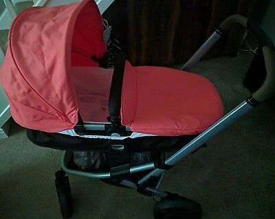 Mothercare xpedior travel system in Coral/ pram pushchair/car seat