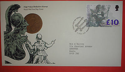 GB Definitive First Day Cover - 1993-  £10 High Value - Windsor