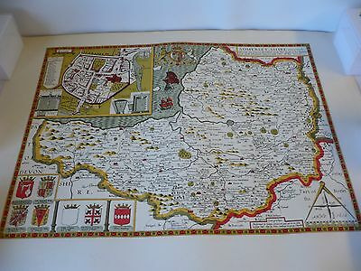 Old Antique County map of  Somerset by John Speed 1611, 51  X 64cms reproduction
