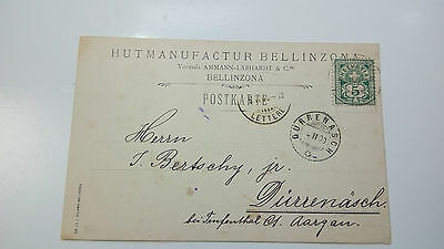 Switzerland Cover 1900 Bellizona Check Other Swiss Post Letter Card Items