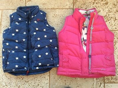 2 Girls Little Joules Padded Bodywarmers / Gilets Age 8 Years