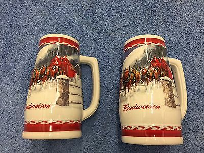 Budweiser 2010 Holiday Steins With Boxes