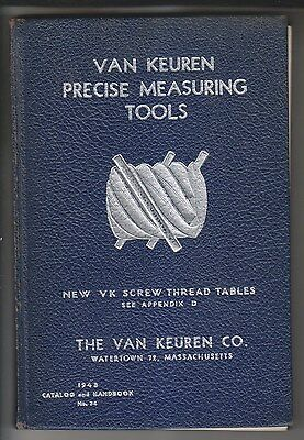 1948 Catalog - Van Keuren Precise Measuring Tools - Watertown Ma