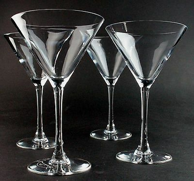 Large Cocktail/Martini Glasses x 4 - Beautiful