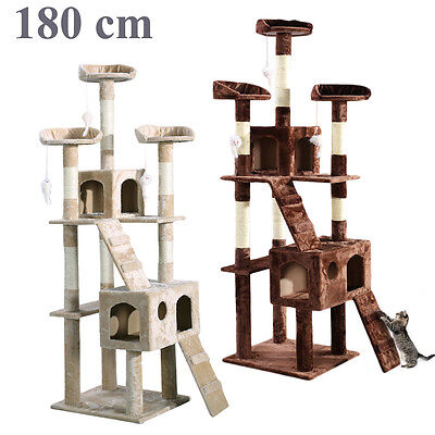 Cat Kitten Scratching Post Tree Scratcher Bed Activity Centre Climbing Toy NEW