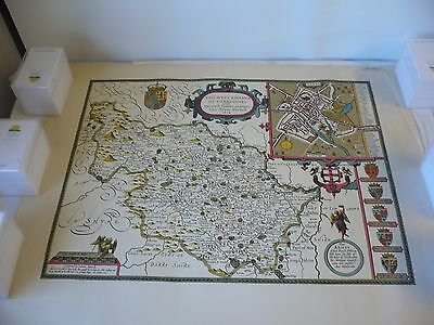 Old Antique County map of  West Riding of Yorkshire by Speed 1611 reproduction