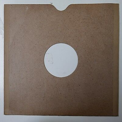 """10"""" 78rpm gramophone record sleeve PLAIN BROWN with HMV stamp"""