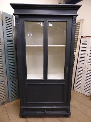 OLD FRENCH DISPLAY CABINET - ARMOIRE - CUPBOARD - g41 ( 1 of a pair )