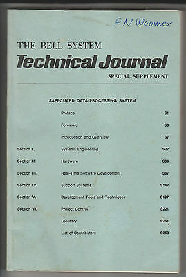 1975 Book - Bell System Technical Journal - Safeguard Data-Processing System