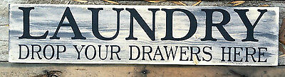 LARGE Primitive Wooden Sign Laundry Room Farm house Country Rustic Distressed