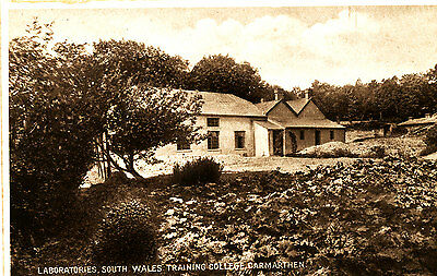 CARMARTHEN - Early Postcard of Laboratories, South Wales Training College