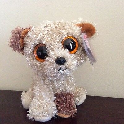 """Ty Beanie Boo ROOTBEER the Dog Sparkle Eyes 6"""""""