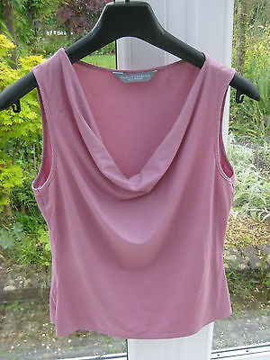 DOROTHY PERKINS Cowl neck Top - Iced Pink - Size 12