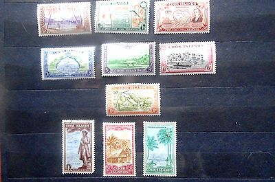 Cook Islands 1949 set M.M 1/- used.