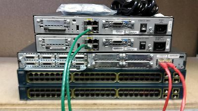 Cisco Ccna Ccnp Ccie Lab Two 1841 Two Ws-C3560 2811 Router Sfp Switch Ideal Lab