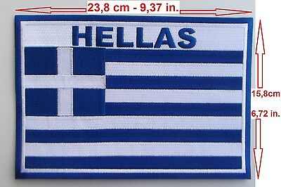 Greek Flag Full Embroidered Big Patch for Motorcycle Car Seat Cover .etc Iron on