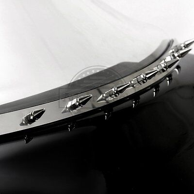 """Windshield Spiked Accent Trim Bar For Harley Touring """"96-""""13 Batwing Fairings"""