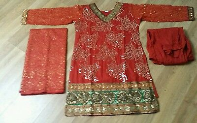 Indian suit, ready made gorgeous colour orange with churiddar