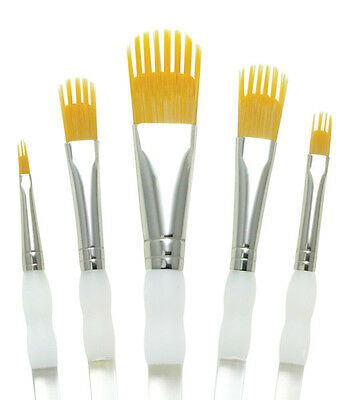 Royal & Langnickel Brush AQUALON WISP Paint Brushes 5 Pc FILBERT Set QUALITY 201