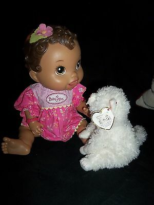 2011 Hasbro Baby Alive Brunette Baby All Gone Talking Interactive Doll VGC!