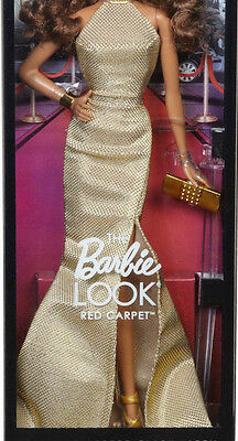 OUTFIT BARBIE LOOK RED CARPET GOLD GOWN - NUOVO abito  fashion doll collection