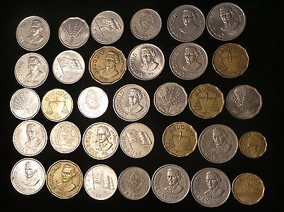 URUGUAY LOT X 33  COINS years 80 's