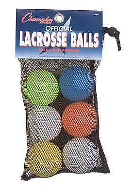 Champion Sports Official Lacrosse Balls (Assorted, Pack of 6)