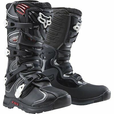 FOX Comp 5 MX Boots Black Size Youth Boys 5