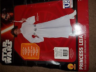 Star Wars Child's Deluxe Princess Leia Costume, size Small S
