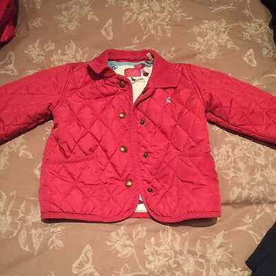 Girls Baby Joules quilted jacket