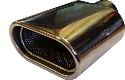 Ford Mondeo 120X70X180MM OVAL POSTBOX EXHAUST TIP TAIL PIPE CHROME WELD