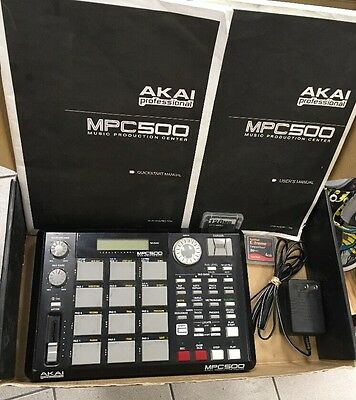 AKAI Professional MPC 500 Music Production Center Portable Audio Equipment USED