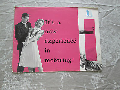TRIUMPH HERALD EARLY 1959 BROCHURE FAIR CONDITION See Enlarged Pics (D1)