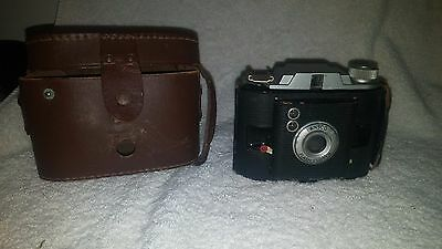 Ansco Flash Clipper Vintage Camera with Leather Case Binghamton NY