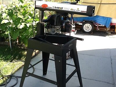 DeWalt Radial arm saw with stand model 7749, 12.5 amp