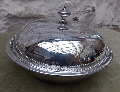 Vintage Mappin & Webb Silver Plated Round Food Warmer Serving 3 Part Dish