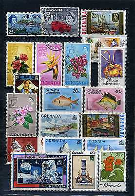 nice lot GRENADA, all postally used