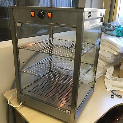 Heated Display Pie / Pastry Cabinet Warmer For Hot Snacks